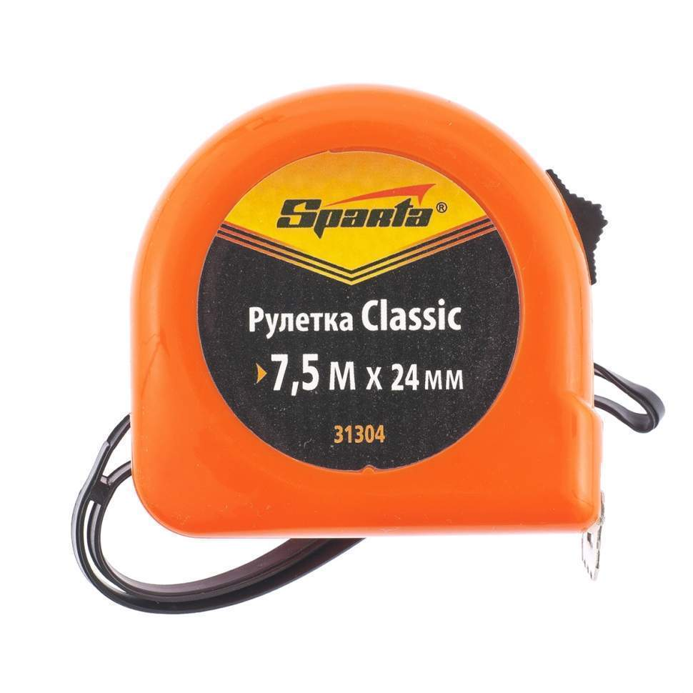 Рулетка Classic, 7.5 м х 24 мм, пластиковый корпус SPARTA (31304)