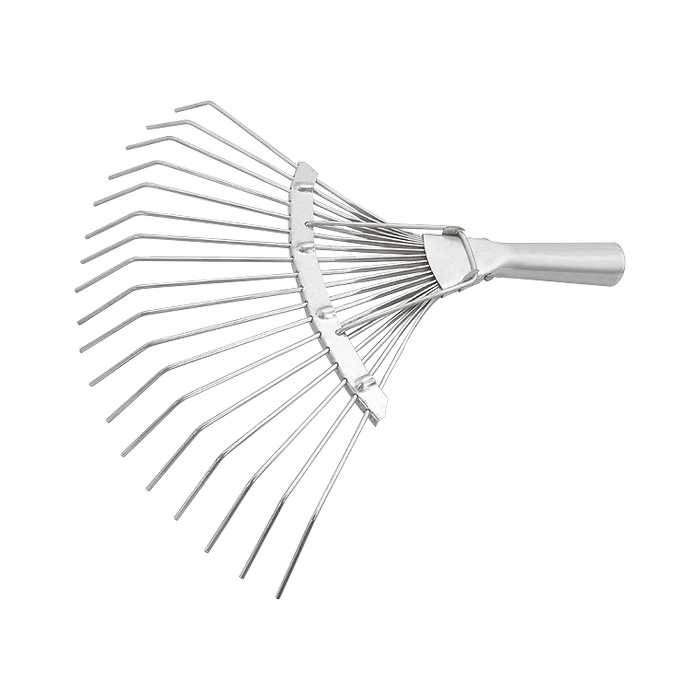 Грабли веерные 18 зубьев, без черенка, оцинкованные, круглый зуб// СИБРТЕХ (61780)