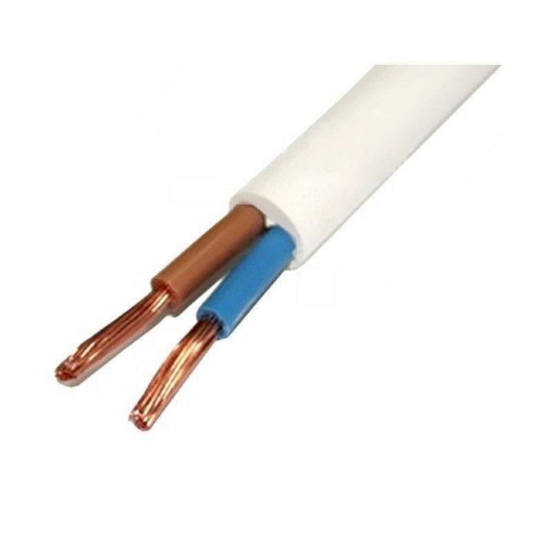 Провод ПВС 2х1,5, соединительный, белый, медный, высокой гибкости, двойная изоляция ПВХ, ГОСТ, в бухте по 50 м (арт. 625309)