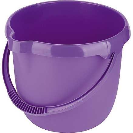 Ведро пластмассовое круглое 12л, фиолетовое ТМ Elfe (92957)