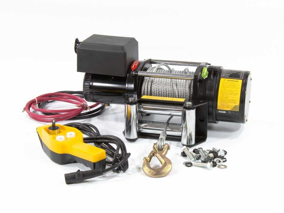 Лебедка автомобильная электрическая LB- 2000, 2,2 т, 3,2 кВт, 12 В DENZEL (52021)